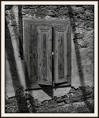 Behind Closed Doors (JHHALL2010.) Tags: white black greece crete greekislands leper spinalonga kriti voicesofearth