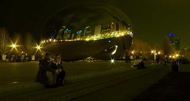 The Bean @ Night
