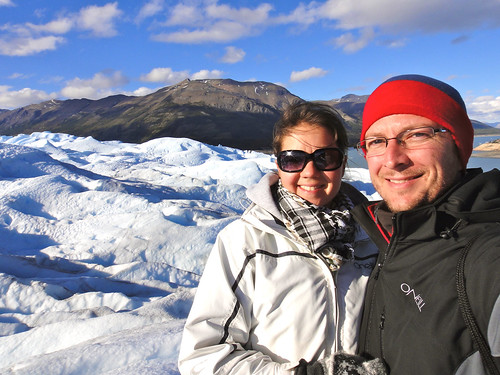 Wendy and Dusty on Glacier Perito Moreno