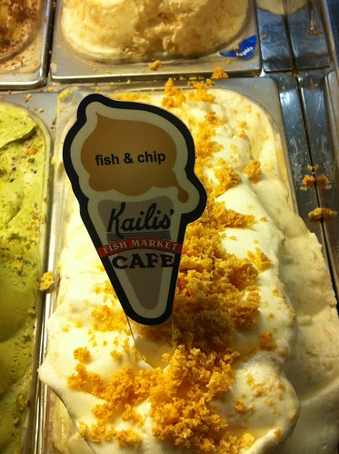 Fish & chip ice cream at Kailis in Freo