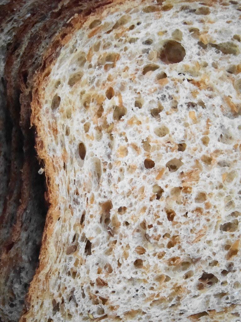 Flax Seed Bread Sliced