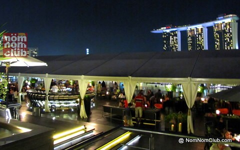 Lantern with the panoramic view of Marina Bay Sands