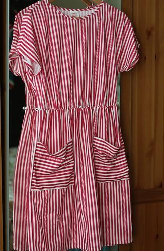 Pink Candy Stripe Vintage Dress