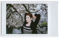 Blossoms... (Jade M. Sheldon) Tags: trees spring library blossoms redhead jade cory fujiinstaxmini jadesheldon