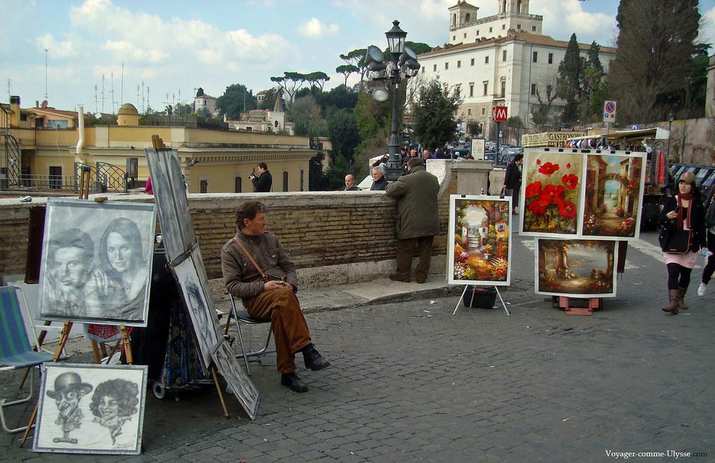 Ici, les artistes viennent à la rencontre des touristes