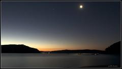 Sunset (Amit Ambardar) Tags: light sunset sun reflection beach water night canon eos lights star raw sydney nsw 7d palmbeach iow bss startrail perfectsunsetssunrisesandskys canoneos7d blinkagain bestofblinkwinners