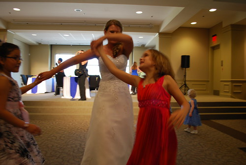 Keilah and Carter dancing with Angela!