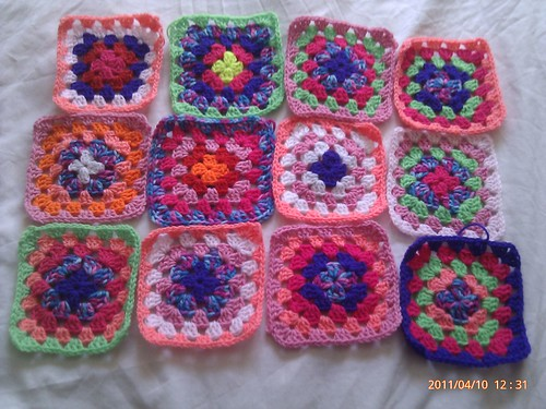 granny blanket squares for the crochet a rainbow project for japan