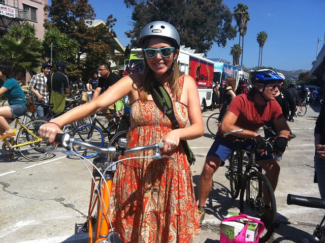 Me and my @publicbikes bike, leaving from Hel-Mel for @CicLAvia!