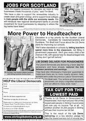 Liberal Democrats Scottish Election Leaflet, 2011 (Scottish Political Archive) Tags: reed scotland election scottish brett publicity campaign democrat liberal 2011