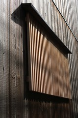 Wooden security (MayaBeee) Tags: houses windows japan buildings kyoto shutters gion walls woodenwalls machiyahouses