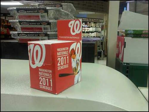 Nats pocket schedules