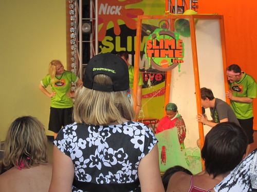 Watching a boy get slimed