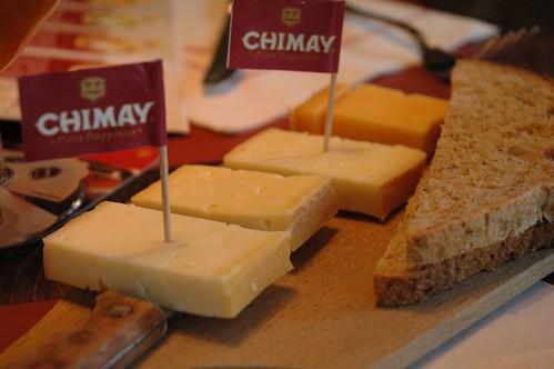 Chimay cheese sampler