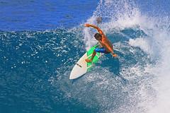 kinetic (bluewavechris) Tags: ocean blue sea sun green water fun hawaii surf action surfer board wave maui spray telephoto foam surfboard 7d cave thebay swell honoluabay honolua