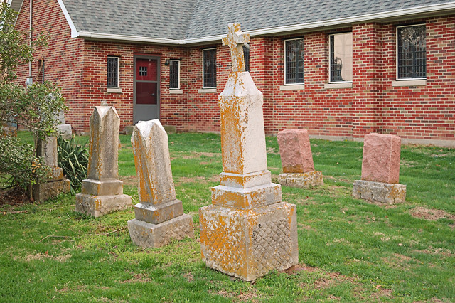 Saint Nicholas Roman Catholic Church, in Pocahontas, Illinois, USA - cemetery