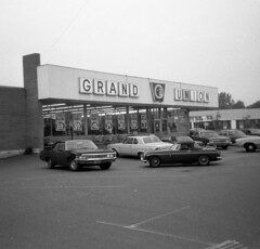 The Grand Union supermarket where my parents shopped for years. You gotta love those prices! (not to mention the 1960s cars). On New Haven Avenue right on the border of Milford and West Haven Connecticut. June 29 1972 (wavz13) Tags: blackandwhite vintage memories nostalgia squareformat nostalgic 1970s oldcars bayshore teenageyears vintagecars instamatic 126 vintagestore 126film oldstore verichromepan vintagemg baybrook teenyears 1960scars bayshoreshoppingcenter 1970scars oldsupermarket oldmg oldbritishcars vintagebritishcars vintagesupermarket 1960schevy vintageconnecticut oldsupermarkets vintagesupermarkets 1970ssupermarket oldconnecticut bayshorecenter 1970sconnecticut 1960smg 1960schevrolet 1970sstore 1960sbritishcars baybrookcenter baybrookshoppingcenter baybrookshopping baybrookplaza westhavenhistory baybrookshoppingplaza oldwesthaven vintagewesthaven
