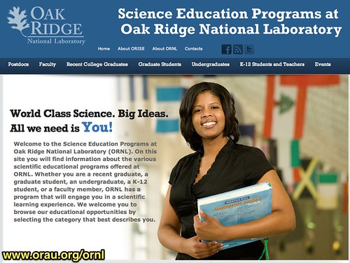 Science Education Programs at Oak Ridge National Laboratory