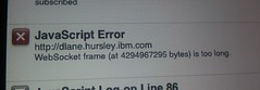 websockets error