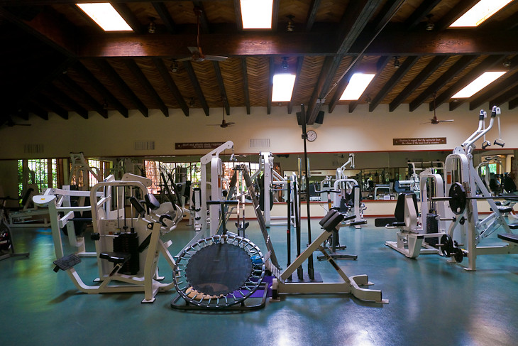 weight room at rancho la puerta