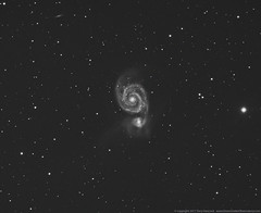 M51 The Whirlpool Galaxy luminance (Terry Hancock www.downunderobservatory.com) Tags: camera sky field night canon stars photography mono pier backyard williams tech space shed images astro mount observatory telescope whirlpool galaxy german astrophotography canes terry orion modified astronomy imaging m51 hancock messier ccd universe rgb amateur wo cosmos gem equatorial constellation cge celestron paramount modded luminance xsi tmb astronomer teleskop astronomie byo f7 refractor deepsky 68mm venatici 450d autoguider flattener astrofotografie astrophotographer Astrometrydotnet:status=solved starshoot qhy5 130ss Astrometrydotnet:version=14400 at2ff mks4000 wotmb gt1100s qhy9m kaf8300 Astrometrydotnet:id=alpha20110479846452 opticstmb