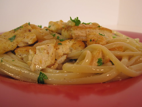 Tofu Scampi (side view)