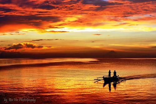 travel sunset sea cloud beach water boat ship diving anchor manado bunaken