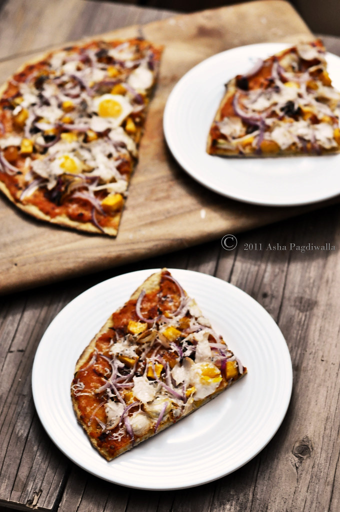 Butternut Squash Pizza sliced