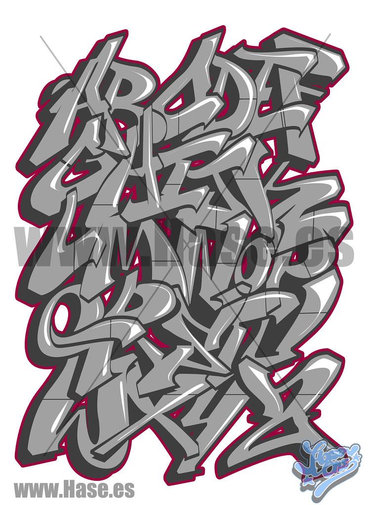 abecedario en graffiti