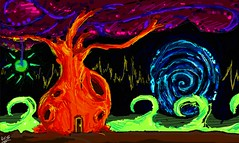 Higher element tree (Robert_Silver83) Tags: life new light abstract tree art robert illustration digital silver crazy mix energy colorful bright drawing vibrant picture doodle multicolored higher tempo element 2011