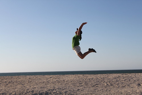 IMG_3170-Jing Yi in an exuberant leap over Shell Beach.JPG