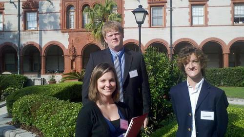 Carlee Hoffmann (Class of 2013), Matt St. Jean (Class of 2011) and Sebastian Novak (Class of 2012)