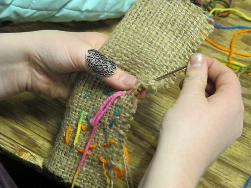 Burlap Weaved Bookmarks 9