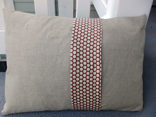 Ruffle Pillow (back)