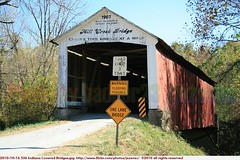 2010-10-16 536 Indiana Covered Bridges Mill Creek Bridge (Badger 23 / jezevec) Tags: wood bridge usa architecture america puente countryside wooden madera country indiana ponte cover covered pont brug  brcke holz madeira hout bois 2010 legno ural    ponticello            lindiana   20101016