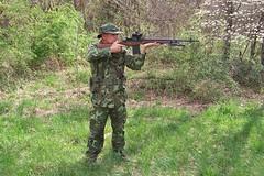 100_4318 (cowboy chris bbq) Tags: cute sexy hat usmc model marine gun photoshoot calendar boots modeling military rifle models columbia camo mo cap cover missouri blonde posters casual camoflage m14 booniehat cowboychrisbbq