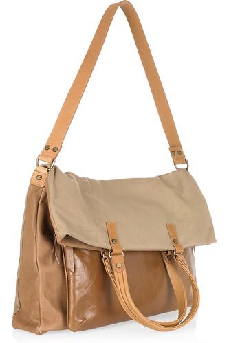 Lanvin Dear Danae Cabas two-tone leather shoulder bag