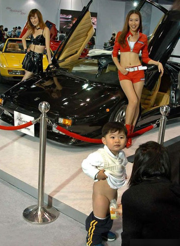 Only at the Shanghai Auto Show...