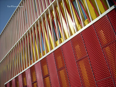The Pavillion - PvanB Architecten (VanWierenPhoto) Tags: blue red yellow nederland thenetherlands extension groningen complex pavillion skyarchitecture zernike pvanbarchitecten vanwierenphoto
