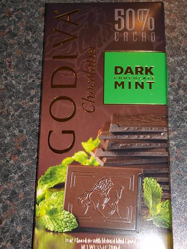 Godiva Dark Mint Bar 50%