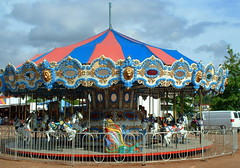 A & P Shows Merry Go Round. (dccradio) Tags: carnival sky horses horse festival wisconsin clouds festive fun amusement ride cloudy jenny overcast bluesky carousel entertainment ap midway independenceday merrygoround wi amusements mgr jaycees carnivalride july4thcelebration fairride mechanicalride marathonpark wausauwi amusementdevice apshows apcarnival apenterprises wausai