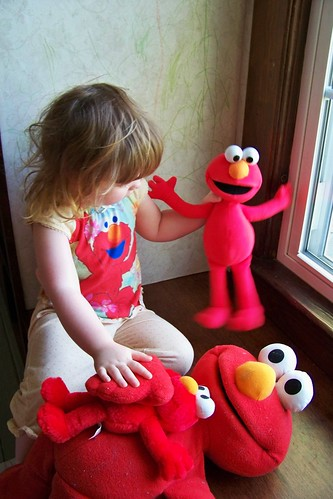 Lucy and her army of Elmo's
