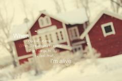 (- M7D . S h R a T y) Tags: winter red house snow blur sweden snowing kingdomofsweden allrightsreserved™