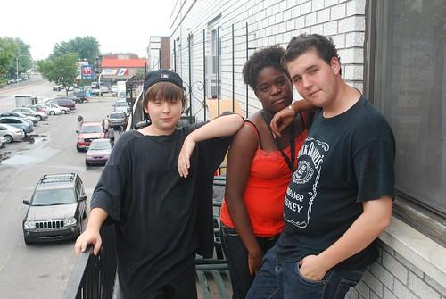 Joel, Shellby et Danny à Montréal-Nord.