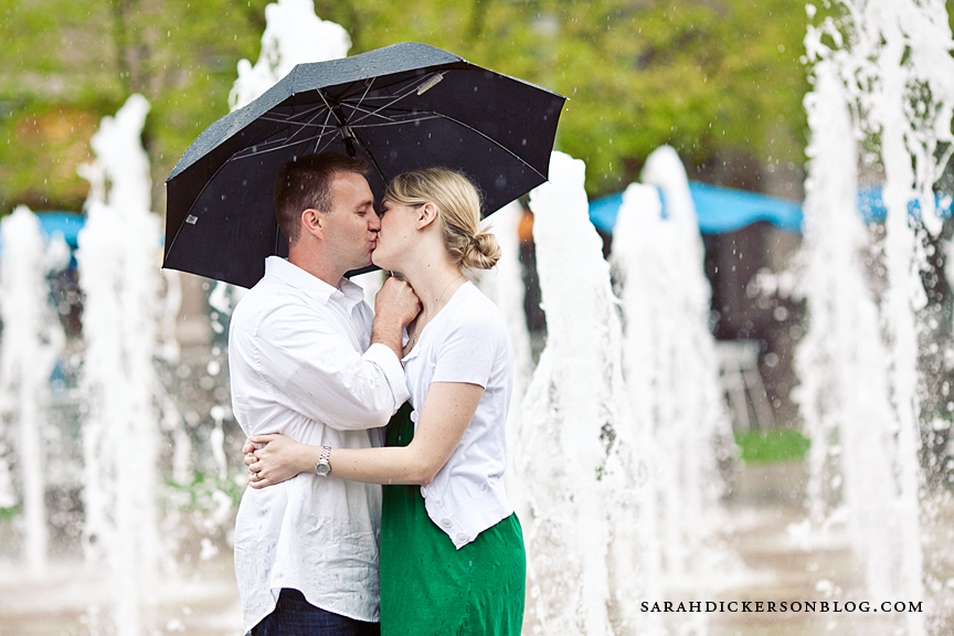 Kansas City Crown Center engagement photography