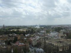 View of the Guadalquivir River and Archivo General de Indias  from La Giralda (a3rynsun) Tags: river sevilla spain guadalquivir view seville belltower lagiralda archivogeneraldeindias