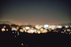 """when the lights go out (jimmay bones) Tags: losangeles nikon bokeh doubleexposure fm2"