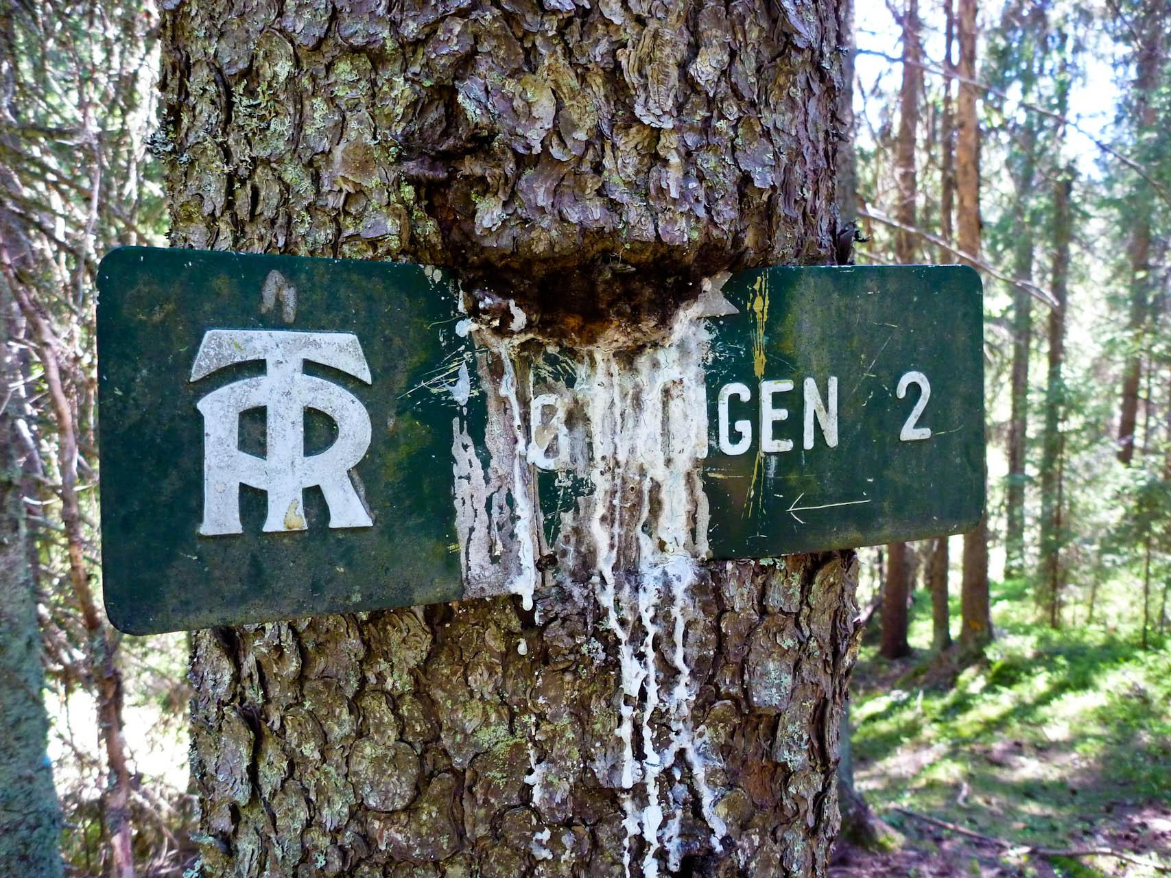 Skilt på Krokskogen