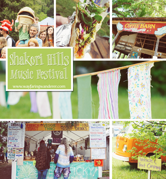 Shakori Hills Music Festival Collage