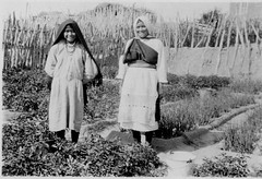 Zuni girls in garden, 1920?  1940? (Marquette University Archives) Tags: new food portraits mexico native indian pueblo american zuni
